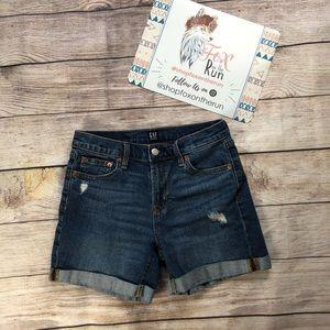 Gap Mid Rise Cuffed Denim Shorts